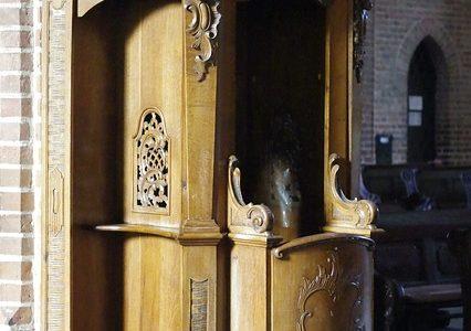 """""""Stały konfesjonał"""" w katedrze legnickiej"""